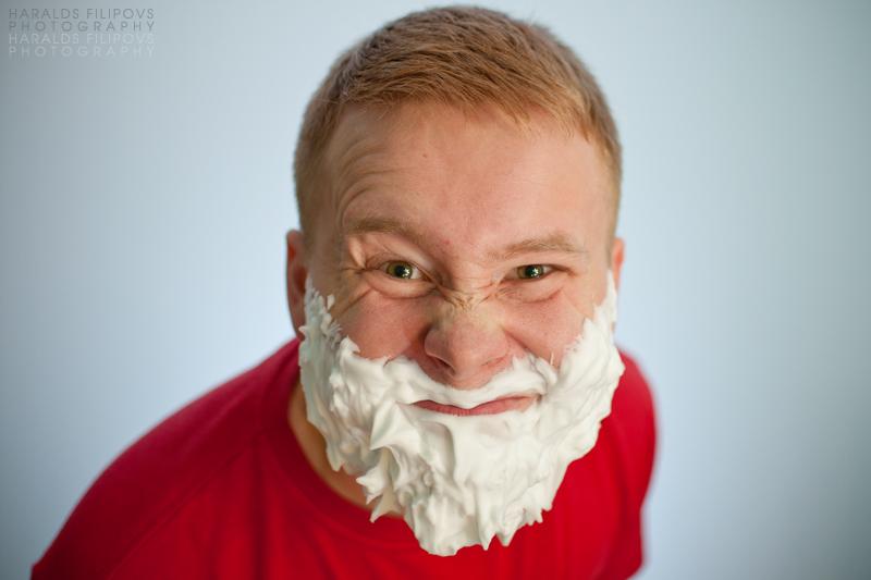 After shave santa claus fotogrāfs haralds fiļipovs