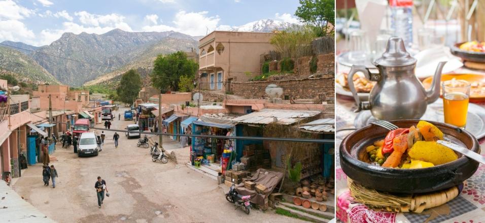 """Uz mazo, iepriekšredzēto, berberu ciematu fona, šī ir kārtīga pilsēta - pāris """"restorāni"""" ceļmalā (bet ar jumta terasi, kuru labprāt izmantojam), iela un autobusu pietura."""